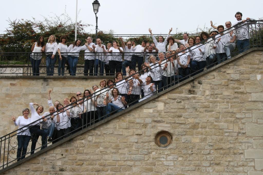 Photo de groupe des choristes de la Clef de Chants de Courbevoie